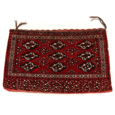2'6 x 3'11 Hand-Knotted Persian Turkoman Bokhara Camel Saddle Bag