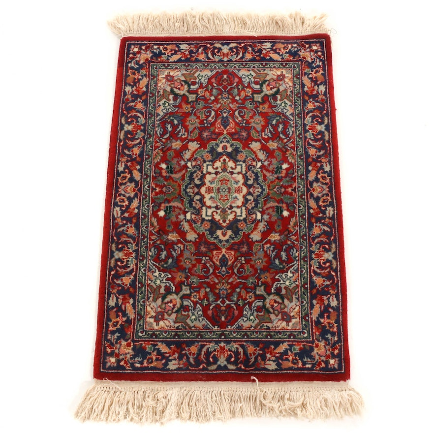 1'10 x 3'4 Hand-Knotted Persian Heriz Rug