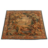 Handwoven French Landscape Theme Wall Tapestry