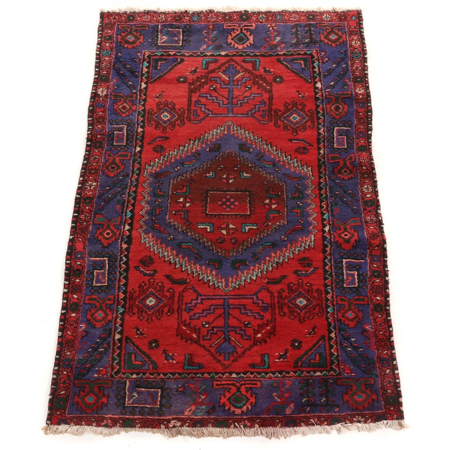 4'0 x 7'4 Hand-Knotted Persian Rug