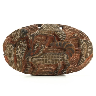 Kambot Style Carved Wood Storyboard of Animals, Papua New Guinea