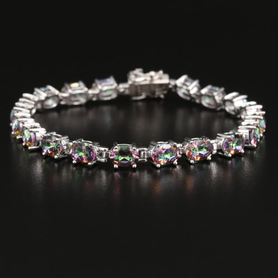 Sterling Silver Mystic Quartz Line Bracelet