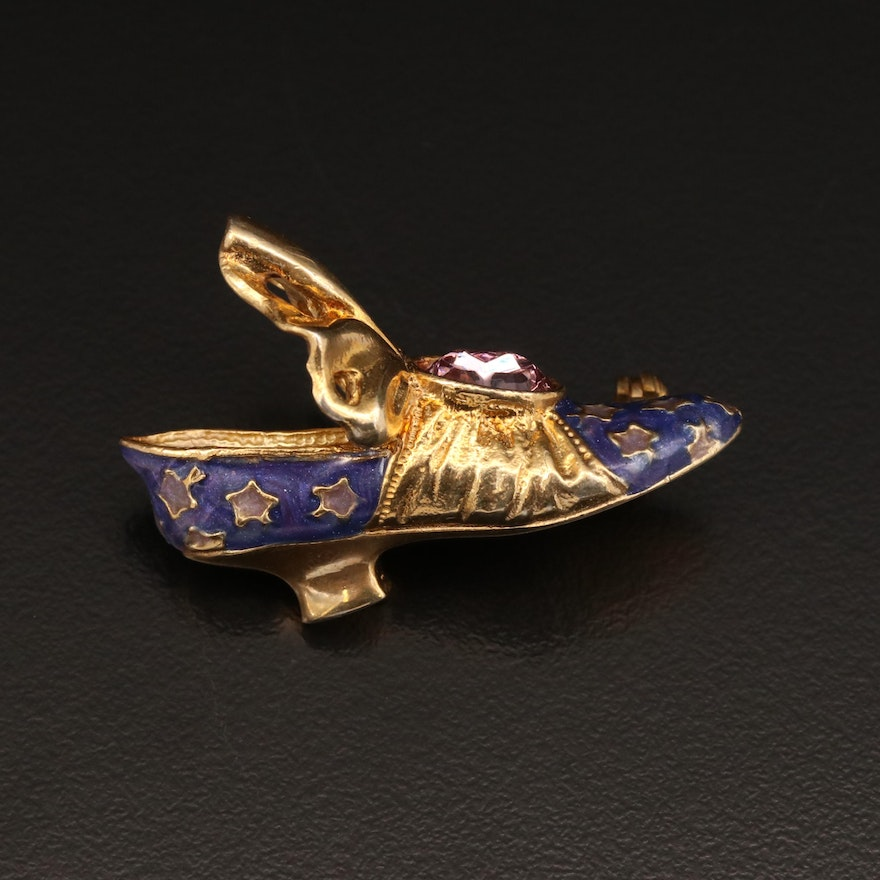 """""""Just the Right Shoe"""" by Raine Sterling Rococo Style Shoe Brooch"""