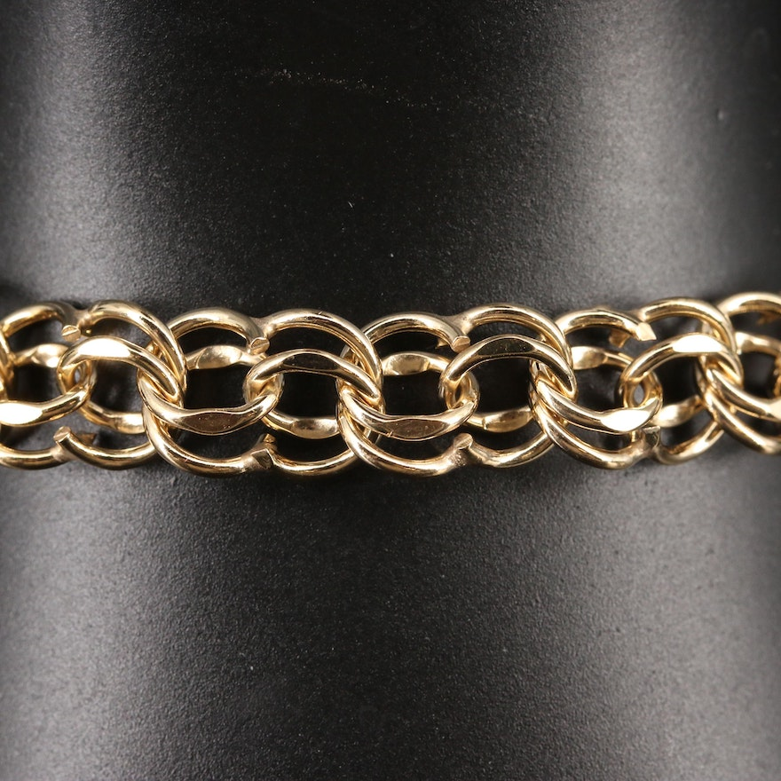Gold Filled Double Row Chain Bracelet