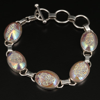 Sterling Druzy Line Bracelet