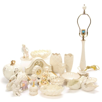 Lenox Bone China Figurines, Lamp and Table Accessories