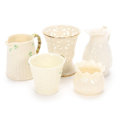 "Belleek ""Shamrock"" Porcelain and Lenox Bone China Table Accessories"