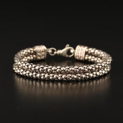 Sterling Silver Double Chain Bracelet