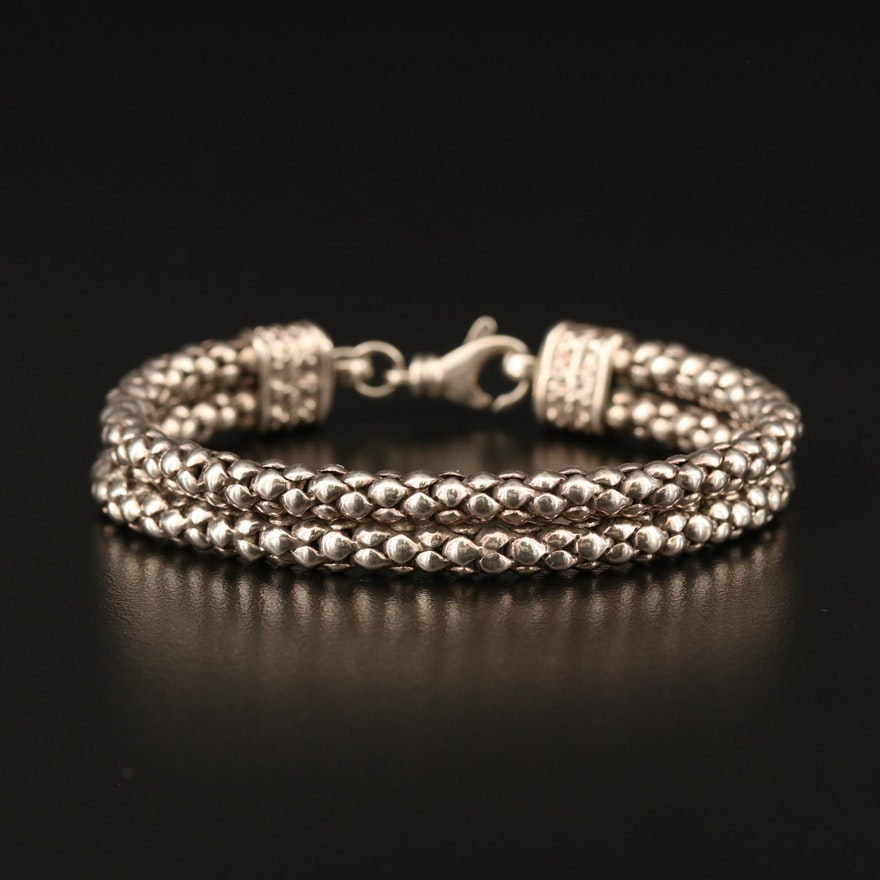 Sterling Silver Double Chain Bracelet