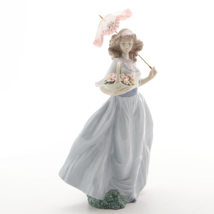 "Lladró ""A Sunny Afternoon"" Porcelain Figurine Designed by Regino Torrijos"