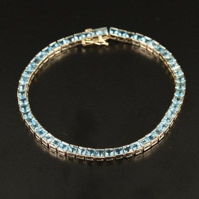 10K Topaz Line Bracelet