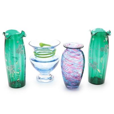 "Monica Backström for Kosta Boda ""Athena"" Vase and Other Vases"