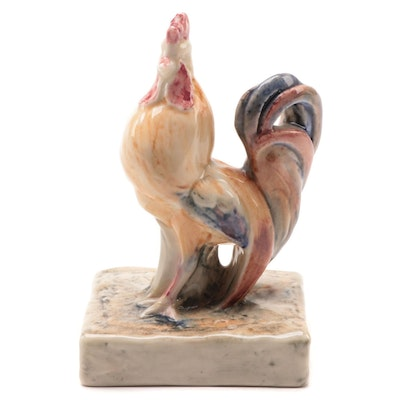 Rookwood Pottery Rooster Paperweight After William McDonald, 1945