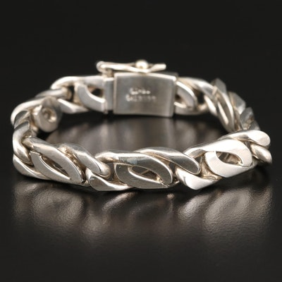 Mexican Sterling Silver Chain Bracelet