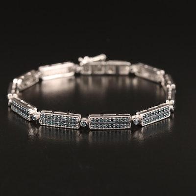 Sterling Silver 1.25 CTW Diamond Bracelet