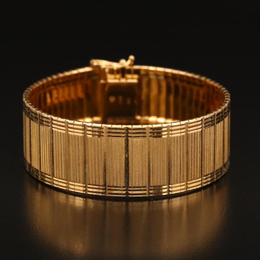 Sterling Silver Textured Link Bracelet