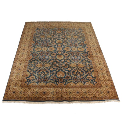 9' x 11'10 Hand-Knotted Indian Jaipur Wool Area Rug