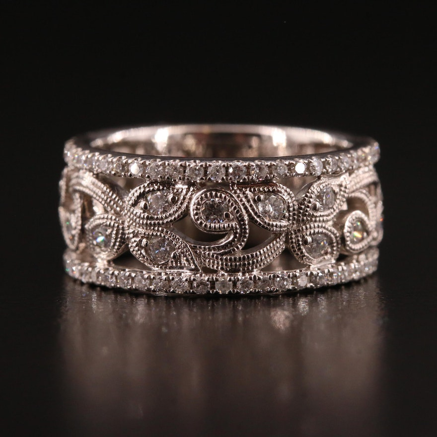 Neil Lane 14K Diamond Openwork Foliate Motif Ring