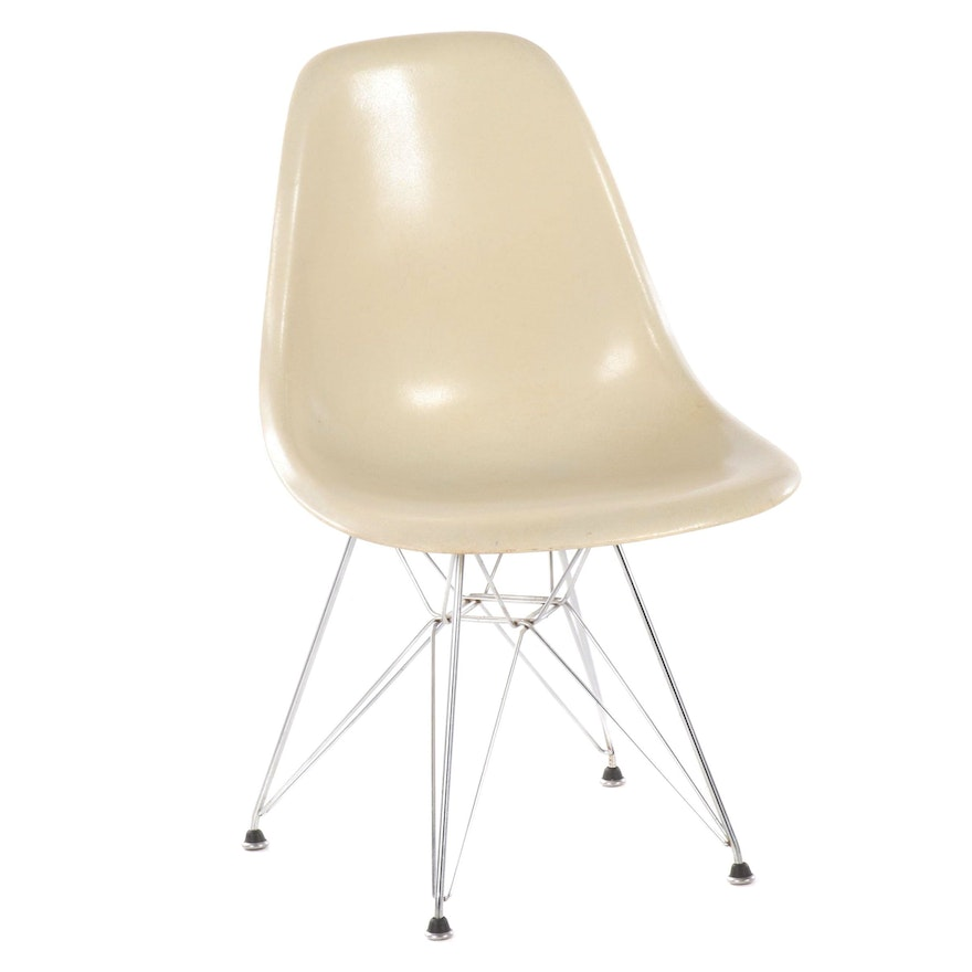Molded Fiberglass Shell Chair in the Style of Eames