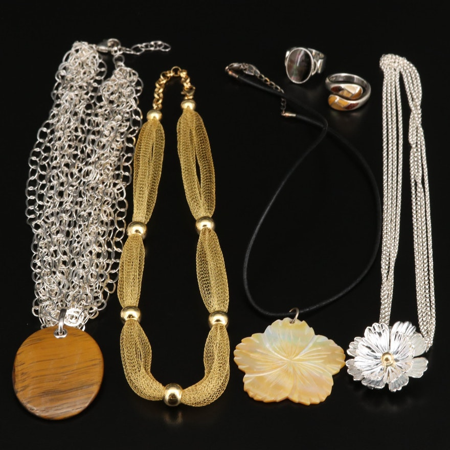 Selection of Jewelry Featuring Joseph Esposito and Mahogany Obsidian