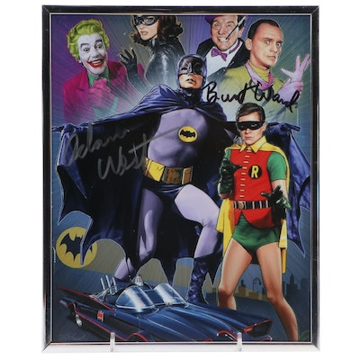 "Signed Adam West and Burt Ward TV ""Batman & Robin"" Framed Photo Print, COA"