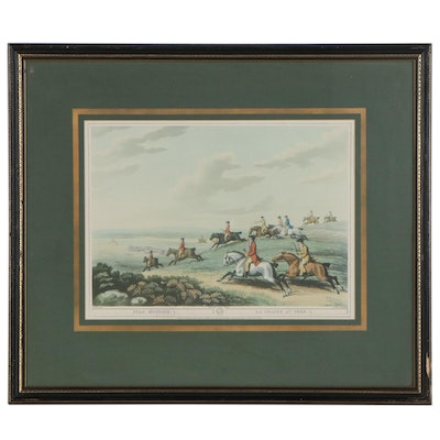 """Offset Lithograph After Samuel Howitt """"Stag Hunting 1"""""""