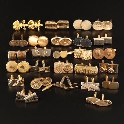 Vintage Cufflinks Featuring Christian Dior, Hickok and Swank