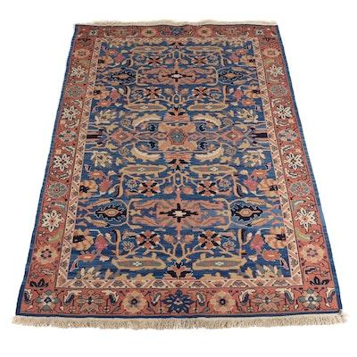 6'3 x 9'5 Handwoven Wool Soumak Area Rug