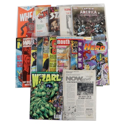 """Star Log,"" ""Star Wars Galaxy,""  Marvel, Wizard, and Other Magazines"