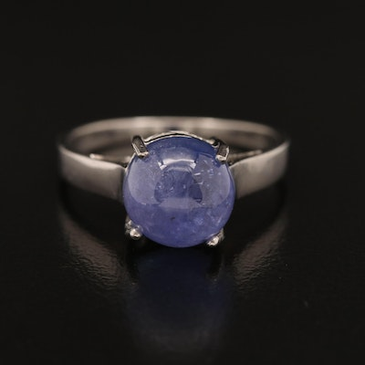 Sterling Silver Tanzanite Solitaire Ring