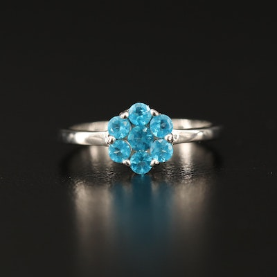 Sterling Silver Apatite Cluster Ring