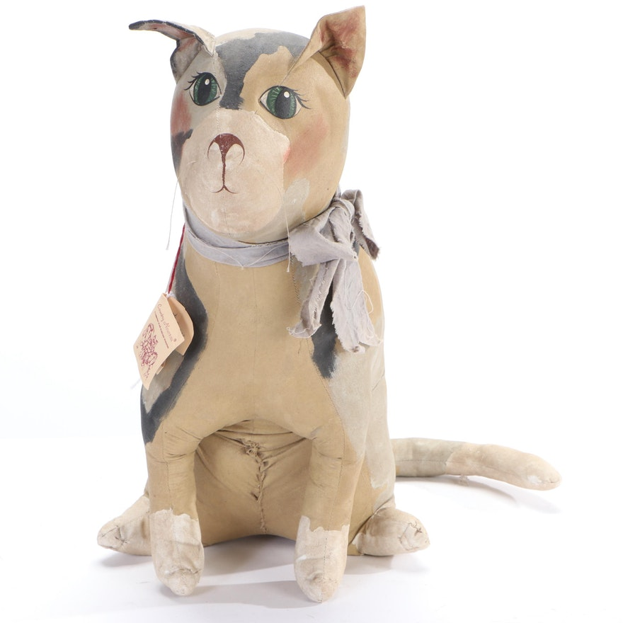 "Angela Bailey Folk Art Cat Sculpture ""Callie,"" 21st Century"