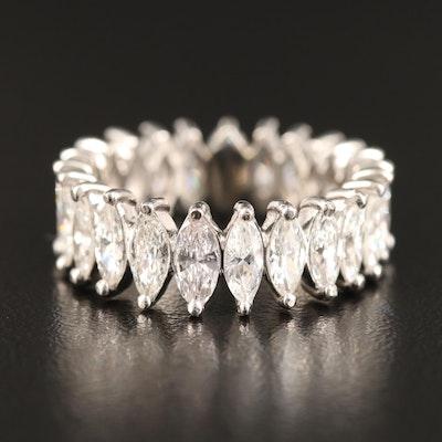 Platinum 4.14 CTW Diamond Eternity Ring
