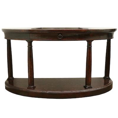 Bernhardt Mahogany Veneered Demilune Console Table
