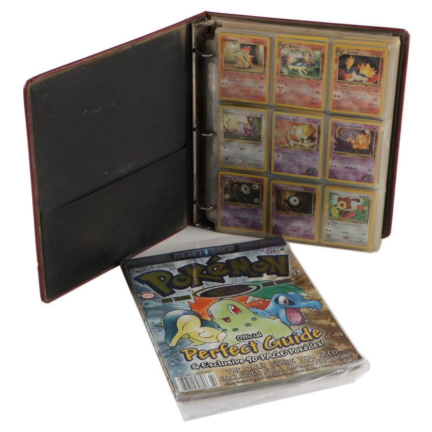 "1990s Pokémon Cards with ""Pokémon"" Magazine Collector's Edition Game Guide"