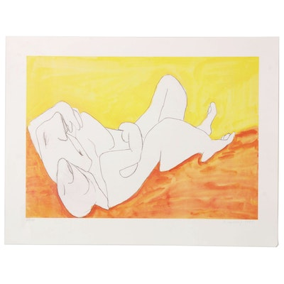 "Maria Lassnig Limited Edition Offset Lithograph ""Aus der Edition Friendship"""