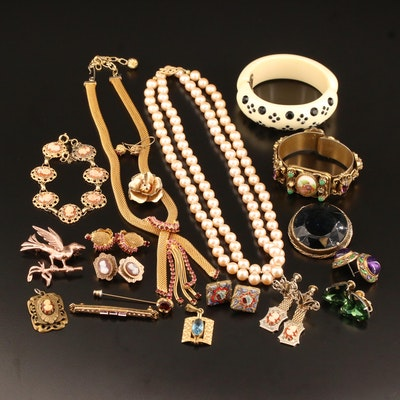Vintage Jewelry Selection Including Weiss, Accessocraft NYC and Sterling
