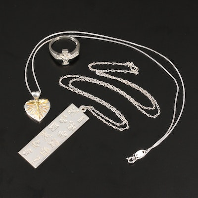 Sterling Silver Jewelry Featuring Evangelic Themes