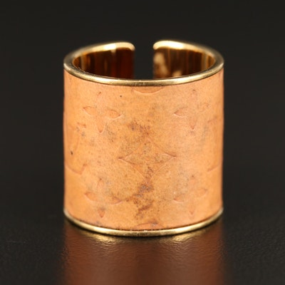 "Louis Vuitton ""Skin"" Embossed Leather Ring"