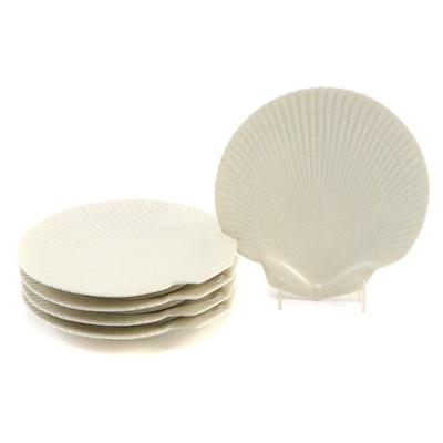 "Raynaud & Cie ""Constance"" Porcelain Seashell Plates"