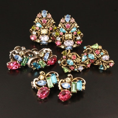 Vintage Rhinestone Jewelry Featuring Circa 1950s Hollycraft