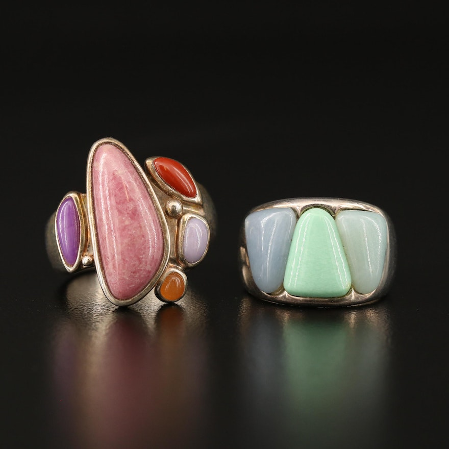 Sterling Silver Rings Featuring Desert Rose Trading and Gemstone Accents