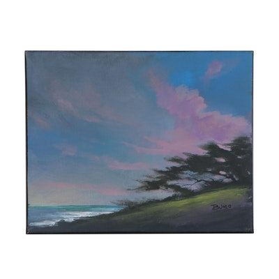 "Douglas ""Bumo"" Johnpeer Landscape Oil Painting ""Cypress Breeze"", 2020"