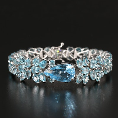 Sterling Topaz and Zircon Bracelet
