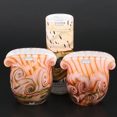 "Gozo ""Seashell"" and Other Art Glass Vases"