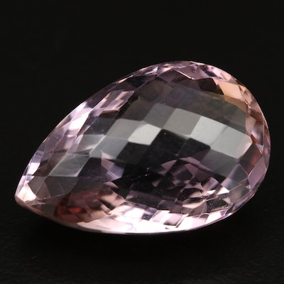 Loose 26.78 CT Checkerboard Pear Faceted Ametrine