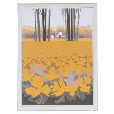 "Steve Horan Serigraph ""Leaves"""