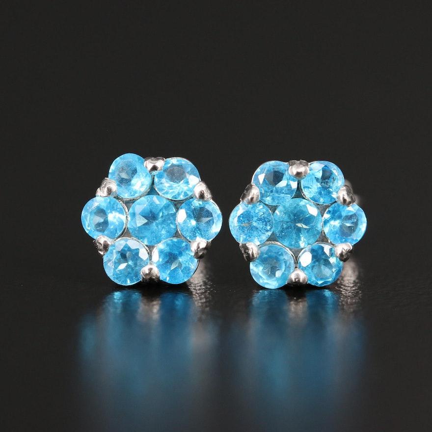 Apatite Stud Earrings in Sterling