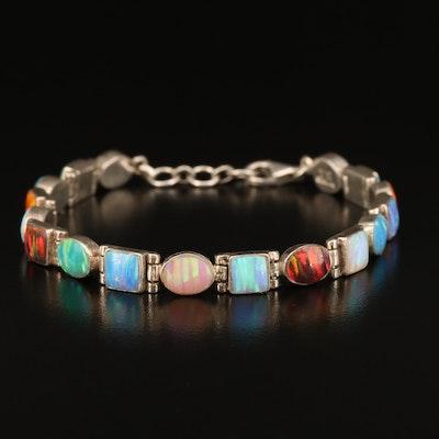 Signed Sterling Opal Bracelet