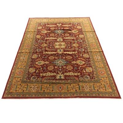 9'8 x 13'2 Handwoven Indian Wool Rug